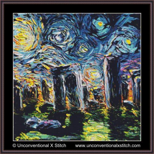 Van Gogh Never Saw Stonehenge cross stitch pattern