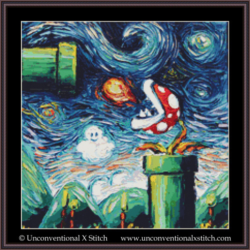 Van Gogh Never Leveled Up cross stitch pattern