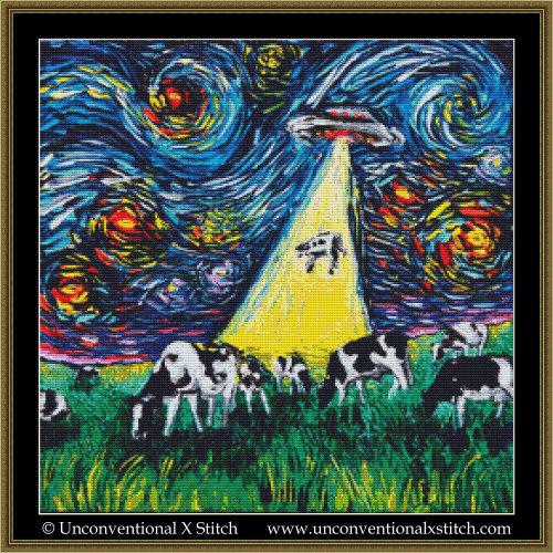 Van Gogh Was Never Abducted cross stitch pattern
