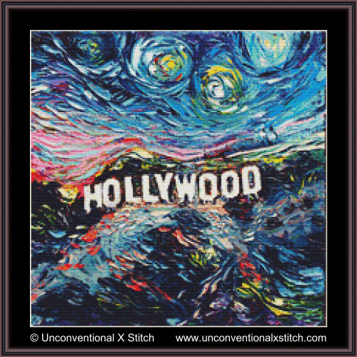 Van Gogh Never Saw Hollywood cross stitch pattern
