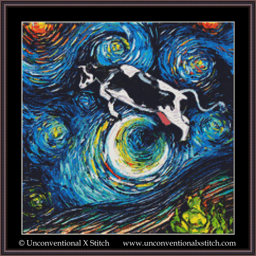 The Cow Jumped Over The Moon cross stitch pattern