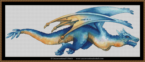 Blue Dragon cross stitch pattern