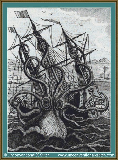 Colossal Octopus cross stitch pattern