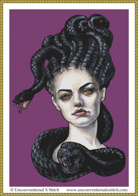 Gorgon cross stitch pattern