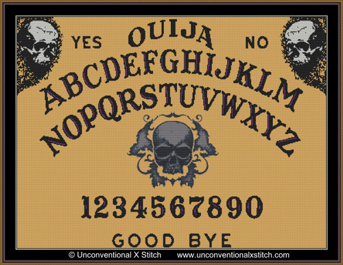 Ouija Board 4 cross stitch pattern
