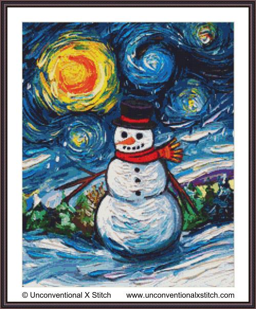 Frosty Night cross stitch pattern