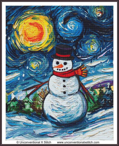 Frosty Night cross stitch pattern (XLEdition)