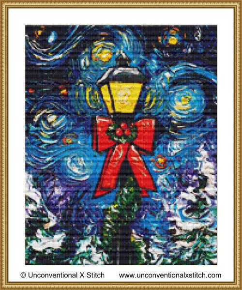 Season's Greetings cross stitch pattern