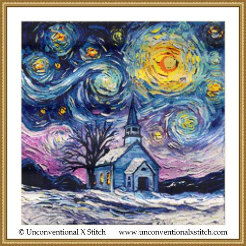 O Holy Night cross stitch pattern