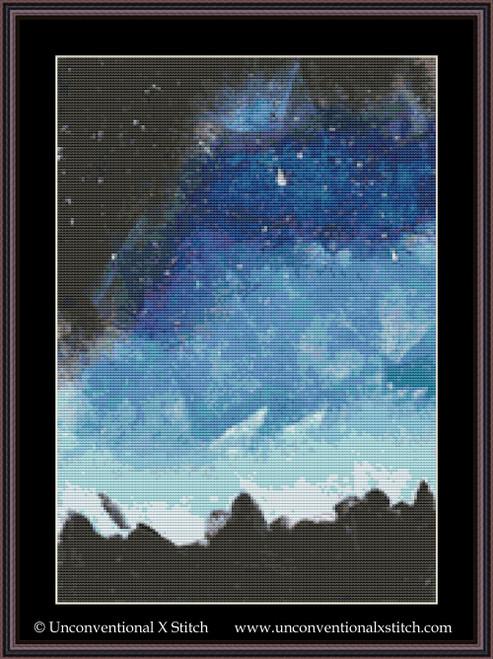 Night Sky cross stitch pattern