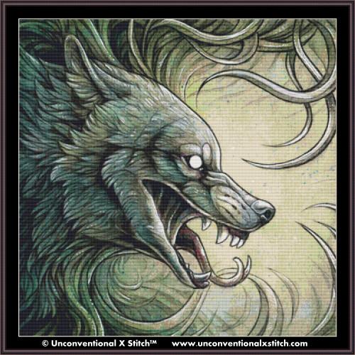 Wolf Creature II cross stitch pattern