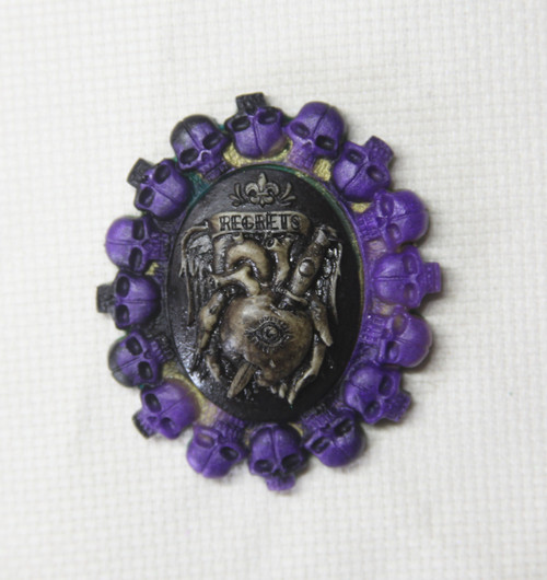 Ring of Skulls needle minder OOAK 2