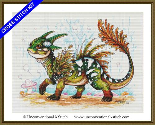 Baby Forest Dragon cross stitch kit