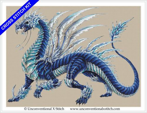 Blizzard Dragon cross stitch kit