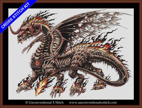 Death Dragon cross stitch kit