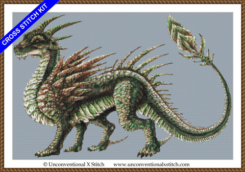 Earth Dragon cross stitch kit