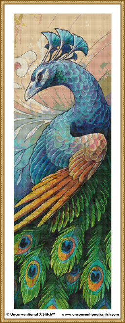 Peacock cross stitch pattern