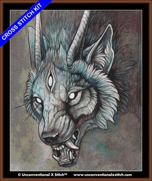 Wolf Creature I cross stitch kit