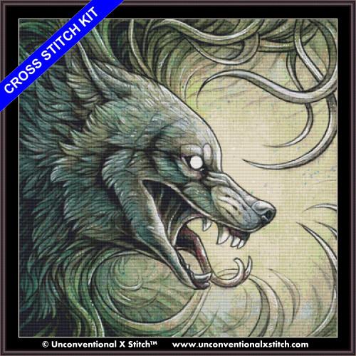Wolf Creature II cross stitch kit