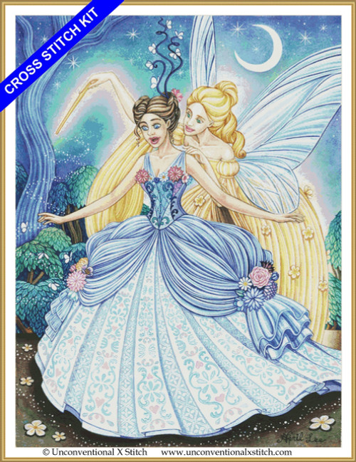 Cinderella and the Fairy God Mother cross stitch kit