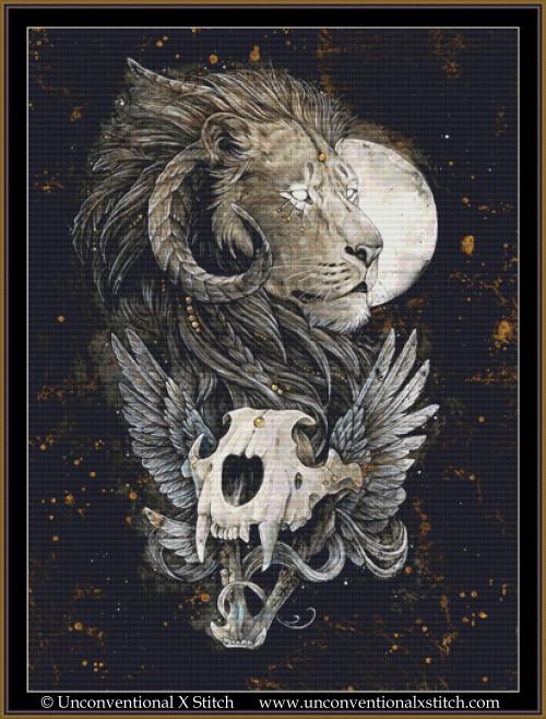 Lion's Gold cross stitch pattern