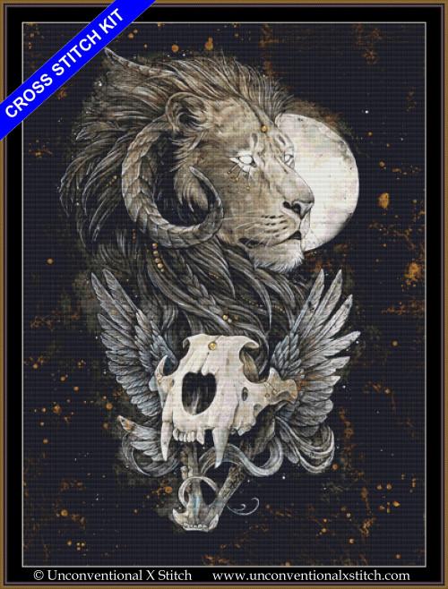 Lion's Gold cross stitch kit