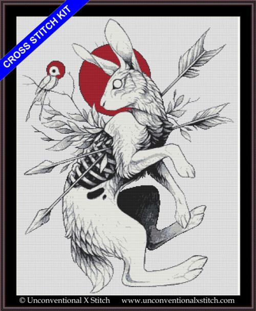 Hare & Bird cross stitch kit