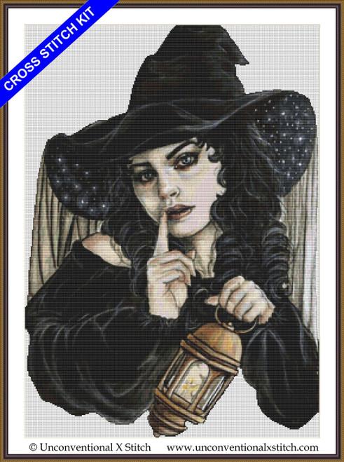 Night Witch cross stitch kit