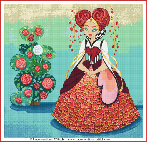 Queen of Hearts cross stitch pattern ( A. S. Lee)