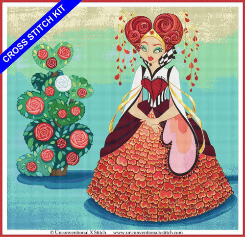 Queen of Hearts cross stitch kit