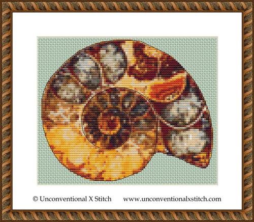 Inside my Shell cross stitch pattern