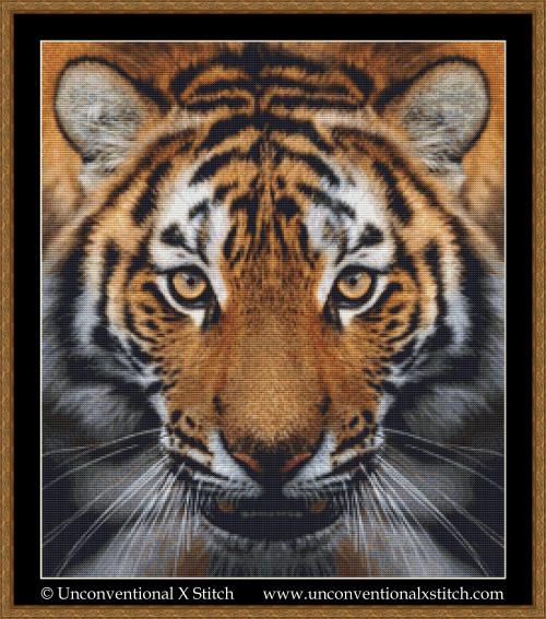 Eye of the Tiger cross stitch pattern