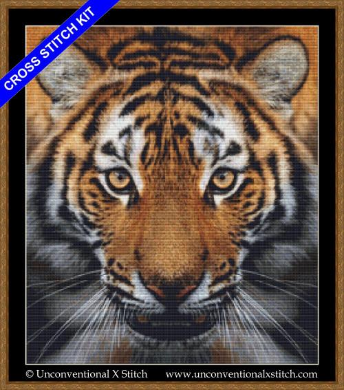 Eye of the Tiger cross stitch kit