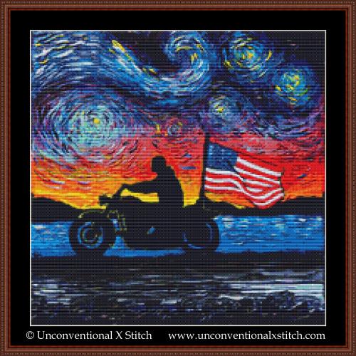 Easy Rider cross stitch pattern