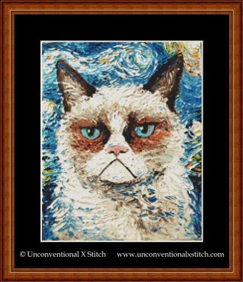 Vincent Van No cross stitch pattern