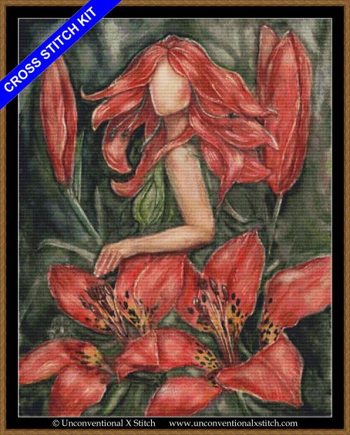 Wood Lily Goddess cross stitch kit
