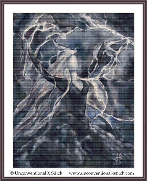 Storm Goddess cross stitch pattern