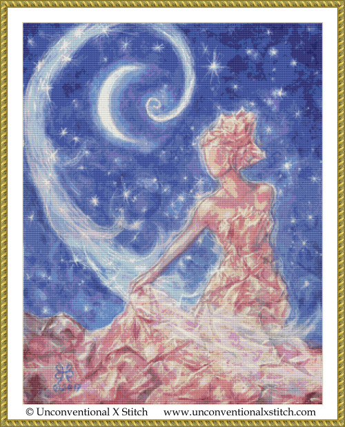 Crystal Goddess cross stitch pattern