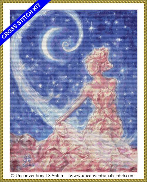 Crystal Goddess cross stitch kit