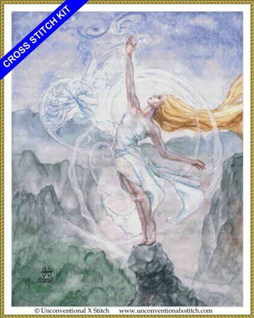 Air Mother Goddess cross stitch kit
