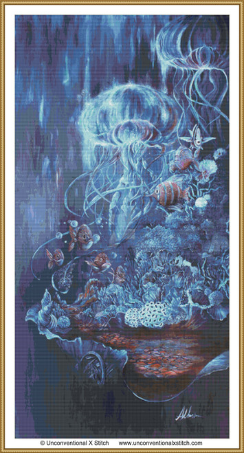 August and Abyssal cross stitch pattern
