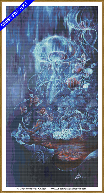 August and Abyssal cross stitch kit