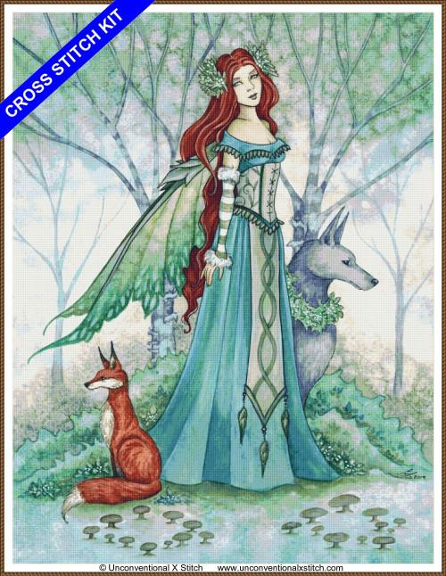 Woodland Guardians (Max edition) cross stitch kit