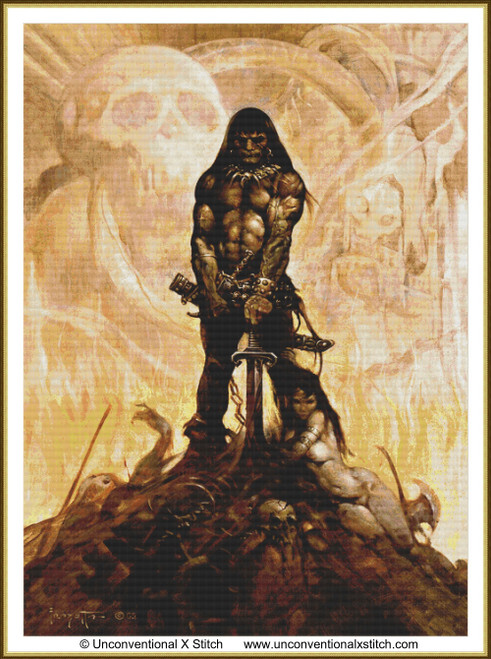 The Barbarian cross stitch pattern (Extract edition v2)