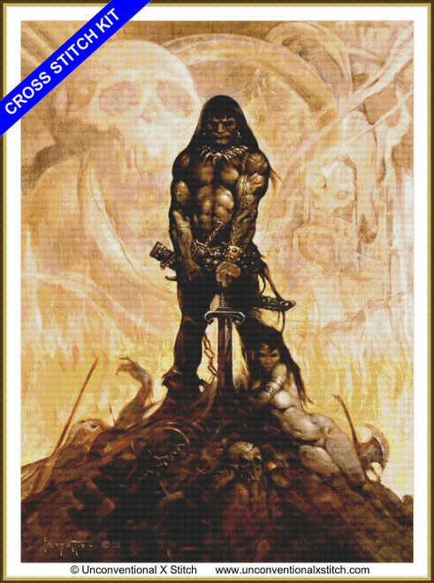 The Barbarian extract v2 cross stitch kit