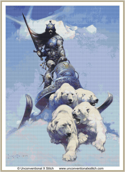 Silver Warrior cross stitch pattern (Extract edition)