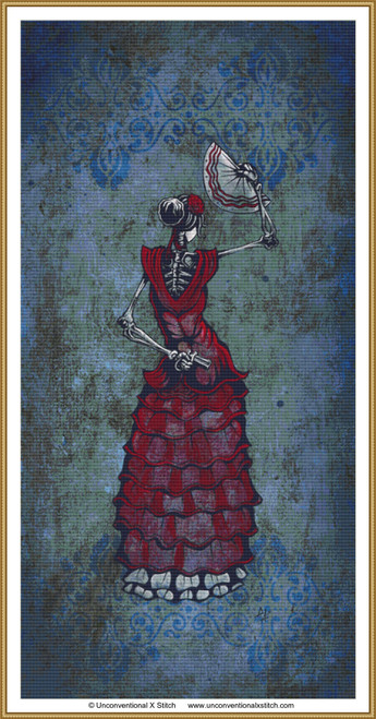 Flamenco Peligroso cross stitch pattern
