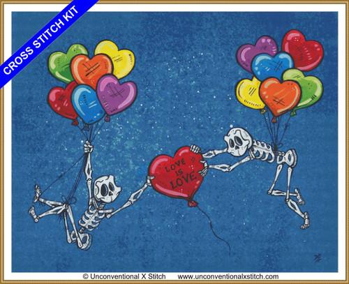 Love is Love cross stitch kit
