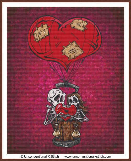 Love Will Lift Us Up cross stitch pattern