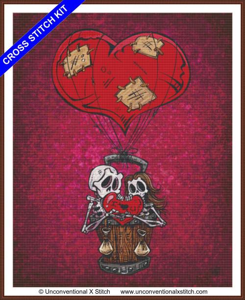 Love Will Lift Us Up cross stitch kit